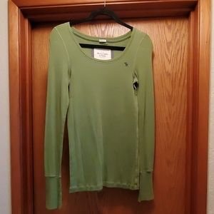 Abercrombie and Fitch green long sleeve shirt